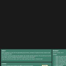 ChipTone : logiciel création bruitages et sons pour jeux vidéo
