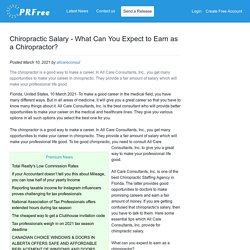 Chiropractic Salary - What Can You Expect to Earn as a Chiropractor?