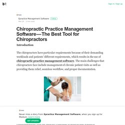 The Best Tool for Chiropractors