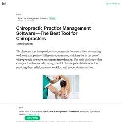 The Best Tool for Chiropractors