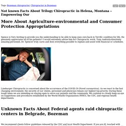 Not known Facts About Trilogy Chiropractic in Helena, Montana – Empowering Our - Blog