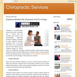 Experience Benefits With Chiropractic Care For All Ages