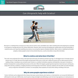 Can chiropractic help with Sciatica?