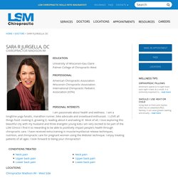 Dr Sara R Jurgella Pediatric Chiropractor