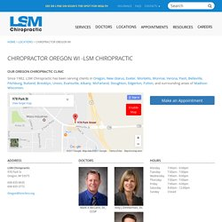 Family & Sports Chiropractor In Oregon WI