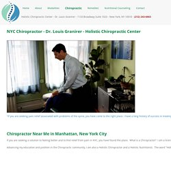 Looking For Chiropractic Treatment in NYC?