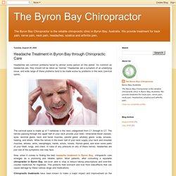 Headache Treatment in Byron Bay through Chiropractic Care