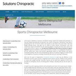 Sports Chiropractor Melbourne