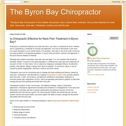 Is Chiropractic Effective for Neck Pain Treatment in Byron Bay?