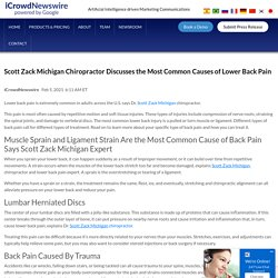 Scott Zack Michigan Chiropractor Discusses the Most Common Causes of Lower Back Pain
