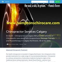 Chiropractor Services Calgary (with image, tweet) · hamptonschiro