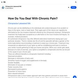 Chiropractor Lakewood WA on Behance