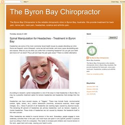 Spinal Manipulation for Headaches Treatment in Byron Bay