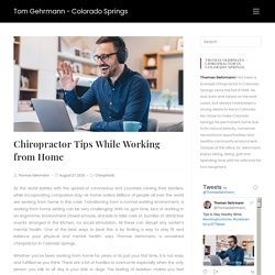 Chiropractor Tips While Working from Home