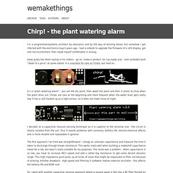 Chirp! - the plant watering alarm