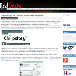 Chirpstory Lets You Filter And Bundle Tweets Into Stories - Redsn0w