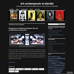 Art contemporain et identité