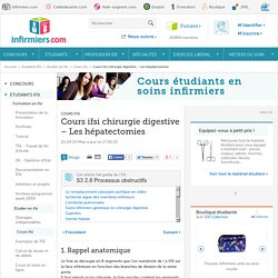 Cours ifsi chirurgie digestive – Les hépatectomies