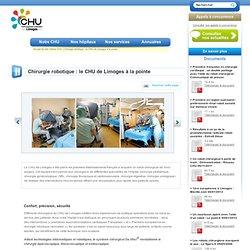 Chirurgie robotique: le CHU de Limoges à la pointe - CHU Limoges