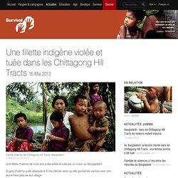 Une fillette indigène violée et tuée dans les Chittagong Hill Tracts