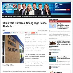 Chlamydia Outbreak Among High School Students - CBS 7: Multimedia