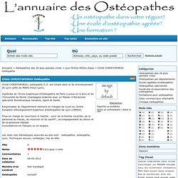 Chlöé CHRISTOFOROU Ostéopathe