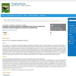 TRIPOCULTURA 03/08/18 Utilisation du chlorantraniliprole (CORAGEN 20 SC) dans le contrôle des principaux insectes ravageurs du cotonnier au Burkina Faso