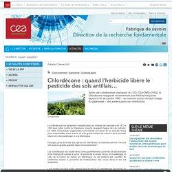 CEA_FR 15/02/21 Chlordécone : quand l'herbicide libère le pesticide des sols antillais…