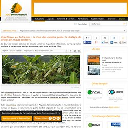 Chlordécone en Outre-mer : la Cour des comptes pointe la stratégie de gestion des risques sanitaires