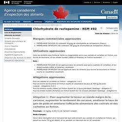 ACIA - 2010 - Chlorhydrate de ractopamine - NSM #82