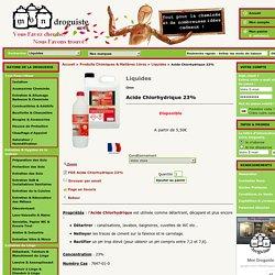 Acide Chlorhydrique 23%, Achat Détartrant, Acheter pH- Piscine - Mon Droguiste