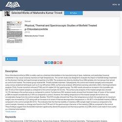 Biofield Energy Treatment on p-Chlorobenzonitrile