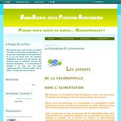 La chlorophylle et l'alimentation