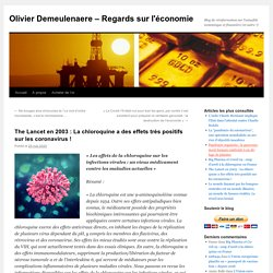 The Lancet en 2003 : La chloroquine a des effets très positifs sur les coronavirus