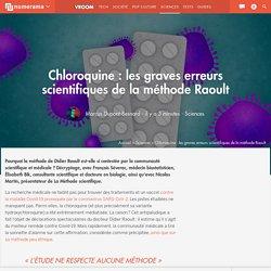 Chloroquine : les graves erreurs scientifiques de la méthode Raoult