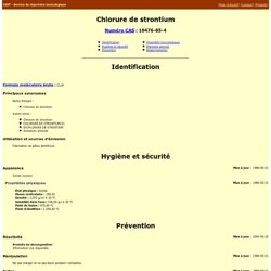 Chlorure de strontium