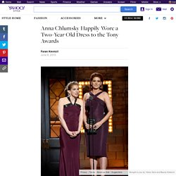 Anna Chlumsky Happily Wore a Two-Year Old Dress to the Tony Awards