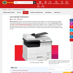 Cho thuê máy photocopy giá rẻ tại TP HCM