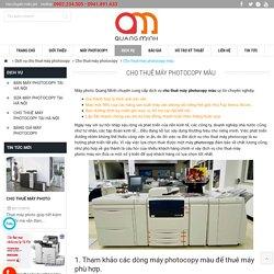 Cho thuê máy photocopy màu uy tín mới nhất tại Hà Nội