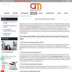 Cho thuê máy photocopy tận nơi tại Hà Nội