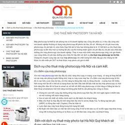 Cho thuê máy photocopy tại Hà Nội uy tín chuyên nghiệp