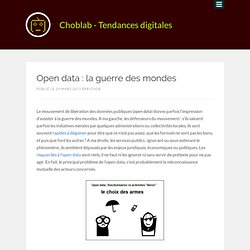 Open data : la guerre des mondes