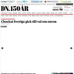 Chockat Sverige gick till val om euron