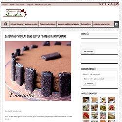 gateau au chocolat sans gluten / gateau d'anniversaire