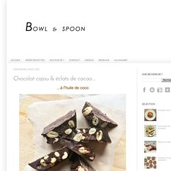 Chocolat cajou & éclats de cacao...