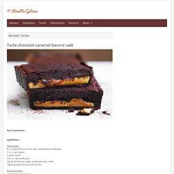 Tarte chocolat-caramel beurre salé