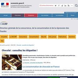 DGCCRF - Le chocolat : définition