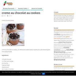 Crème chocolat cookeo