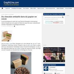 Du chocolat emballé dans du papier en cacao