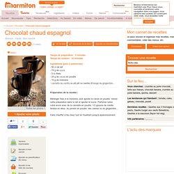 Chocolat chaud espagnol : Recette de Chocolat chaud espagnol